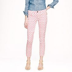 JCREW - Cropped matchstick jean in thistle print