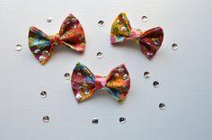 Floral sequins bow