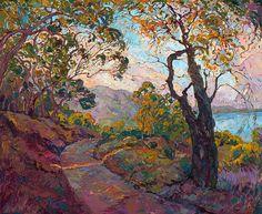 La Jolla Painting - California Trail by Erin Hanson