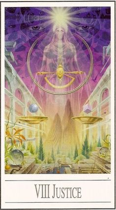 VIII - La justice - Tarot Ananda par Ananda Kurt Pilz Find out what Justice means for you: www.tarotbyemail.com