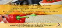 Fehlende Kochkenntnisse sollten kein Hindernis für eine gesunde Ernährung sein! Wir versprechen: Sie müssen kein Sternekoch sein, um sich gesund zu ernähren... Wir sind es auch nicht :) http://www.kerngesund-foodrevolution.de/rezeptbox/ #kerngesund #hindernisse #Kochkenntnisse #rezepte