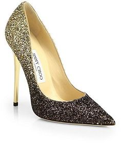 Jimmy Choo Anouk Glitter Degrade Pumps, $675- say hello to New Years Eve with serious sparkle