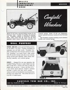 Sunday, July 7, 2013- Willys-Overland Industrial Equipment Book, Part Seven, More Equipment