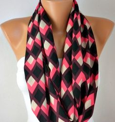 ON SALE - Chevron Infinity Scarf Shawl Scarf Circle Scarf Loop Scarf Gift -Women's Fashion Accessories best selling item scarf