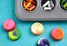 Bricolages pour journées enneigées : crayons de cire maison