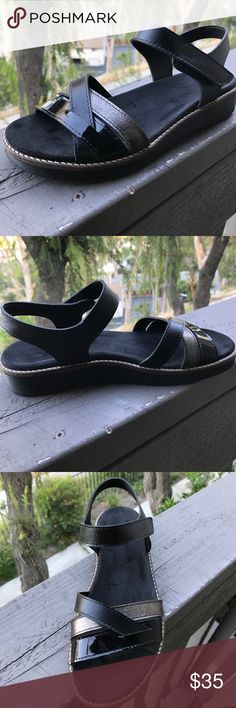 Spring step Elzira sandals size 37 (6.5-7 us) You are looking at a very nice superb condition Elzira sandals. Worn only couple times. These sandals made of premium genuine leather. They provide superior arch support. In addition, they help with metatarsalgia (pain in the ball of the foot). These shoes are good for neutral, high arch and flat feet. Extremely comfortable  1. Premium, high quality combo leather upper.  2. Soft microfiber, contoured, removable insole.  3. Made in Portugal…