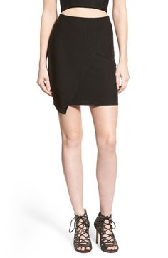 Missguided Wrap Miniskirt available at #Nordstrom