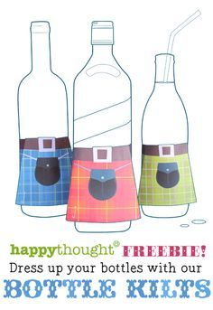whisky kilts! Outlander Premiere Party: Free Tartan Printable Kilt