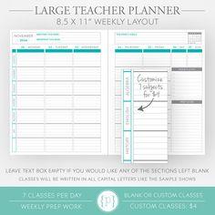 Large Teacher Planner