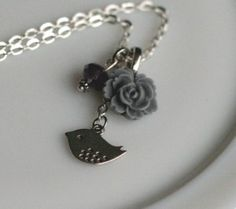 Whimsical vintage style necklace from The Poppy Chain on #Etsy