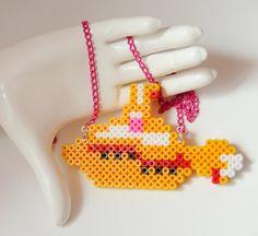 Perler Beads Plastic Pendant - Yellow Submarine