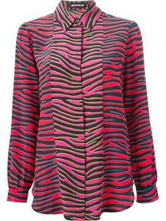 silk blouse in zebra print