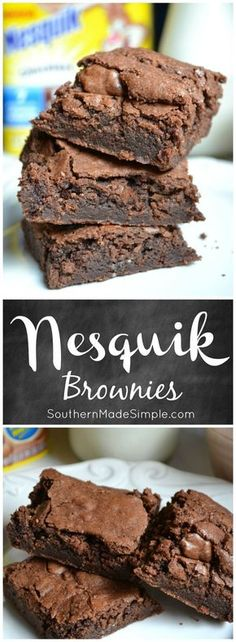 We all know that Nesquik make your milk taste amazing, but adding it to your brownie mix takes things to a whole nother level! Nesquik brownies are simple, delicious and even contain 7 essential vitamins and minerals! #StirImagination #ad /nesquikusa/
