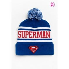 Superman hat from Ardenes Stocking Stuffers, Superman, Gift Guide, Winter Hats, Christmas Gifts, Stockings, Beanie, Cute, Cards