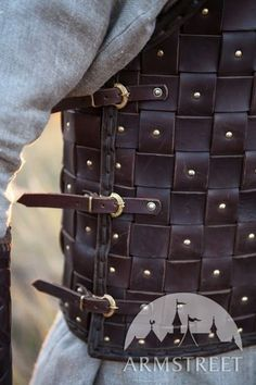 Viking Leather Armour Starps with Casted clasps