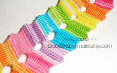 SALE: Double FlipFlop Rainbow Friendship Bracelet. Love the colors and design.