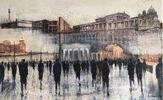 lesley-oldaker Perspective, Saatchi Art, Berlin, Original Paintings, Urban, The Originals, Canvas, Wood, Artwork