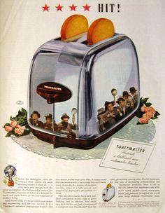 1939 Vintage Toastmaster Toaster Ad ~