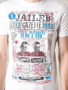 Shop DSQUARED2 'Jailed Gazette' T-shirt in The Corner Berlin from the world's best independent boutiques at farfetch.com. Over 1000 designers from 300 boutiques in one website.
