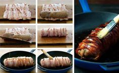 Maple Bacon Wrapped Pork Tenderloin Ingredients) - Pork + Maple + Bacon + Olive Oil is all you need to make this. Easy enough for midweek, fancy enough for dinner parties. Easy Pork Loin Recipes, Filet Recipes, Grilling Recipes, Cooking Recipes, Cooking Pork, Pork Tenderloin Oven, Bacon Wrapped Pork Tenderloin, Pork Tenderloins, Cooking