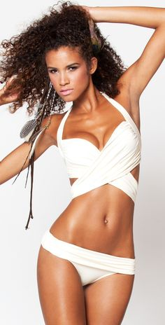 Inca Swimwear 2012 Brit White Wrap Bikini Swimsuit inWhite
