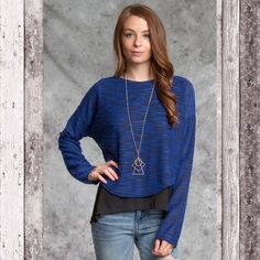 Layered top Royal blue layered top. Tops Blouses