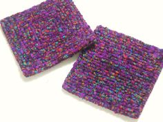 Purple Batik Pot Holders Locker Hooked