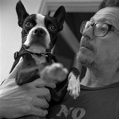 Gary Oldman and a Boston Terrier - my head just exploded