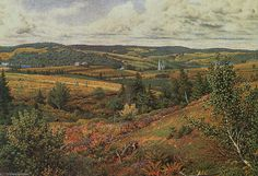 Long Pond, Pied de Red Hill de William Trost Richards (1833-1905, United States)