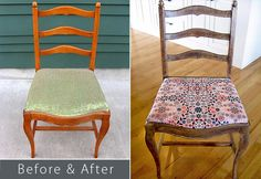 Before & After: Ladder Back Chair - Faux Antique Finish