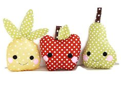 Plushy Fruit People   31 F**king Adorable Things To Make For Babies