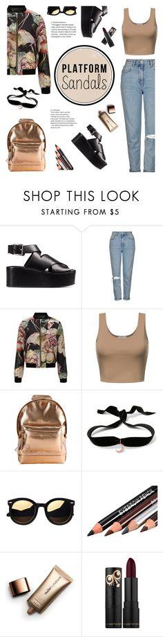 """Platform sandals: Alexander Wang"" by bogira ❤ liked on Polyvore featuring Alexander Wang, Topshop, Miss Selfridge, Mi-Pac, Aamaya by priyanka, Nude by Nature, platforms, fashiontrend, fashionset and platformsandals"