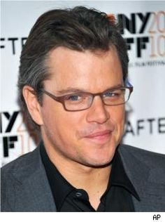 Matt Damon... digging the grey wispy bits