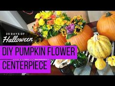 diy pumpkin centerpiece with fresh flowers jphalloween proflowers youtube - Youtube Halloween Crafts