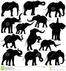 Image result for elephant silhouette trunk up