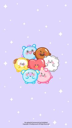 Are you looking for ideas for wallpaper?Navigate here for cool wallpaper inspiration. These unique wallpapers will make you enjoy. Kawaii Wallpaper, Pastel Wallpaper, Bts Wallpaper, Iphone Wallpaper, Cute Love Wallpapers, Cute Cartoon Wallpapers, Bts Chibi, Bts Backgrounds, Bts Drawings
