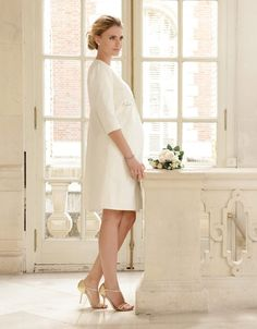 e1faa066458 100% woven cotton 3/4 sleeves Knee length A subtly textured take on a