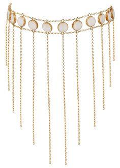 Circle Stone Waterfall Choker | Goldish Birthday List, Bones, Waterfall, Chokers, Elegant, Jewelry, Classy, Jewlery, Jewerly