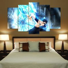 Painting & Calligraphy 2019 New Style 5 Panels Wall Art 5 Panels Wall Art Anime One Piece Monkey D Luffy 5 Pieces Paintings Canvas Poster Unframed Selling Well All Over The World