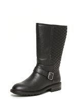 Womens Black 'Tiffany' Biker Boots- Black