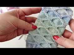 Strickmuster Hexentreppe - YouTube