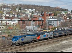 RailPictures.Net Photo: AMTK 154 Amtrak GE P42DC at Worcester, Massachusetts by Paolo Roffo