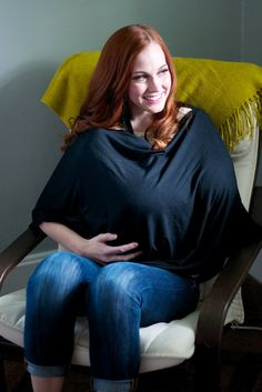 DIY Nursing Shawl cover-up   (only sew one line!)