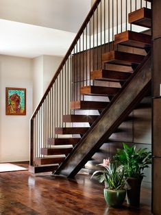 Some Photos of Elegant Outdoor Wood Stairs to Inspire You : Appealing Outdoor Wood Stairs With Flower Pot Under Stairs Art Gallery Wooden Fl...