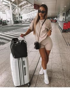 Spring /Summer outfits 5 Ways To Style Biker Shorts Airport outfit Airport outfit summer Biker Outfits Shorts Spring Style summer Ways Chill Outfits, Swag Outfits, Mode Outfits, Cute Casual Outfits, Short Outfits, Stylish Outfits, Summer Outfits, Fashion Outfits, Summer Airport Outfit
