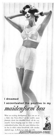 I dreamed I accentuated the positive in my Maidenform bra (1960s?)