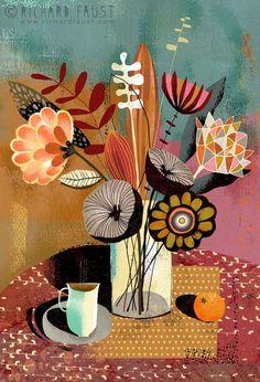 (via Richard Faust | Flower Art, Still Lifes | Pinterest)