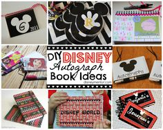 DIY Disney Autograph Books - perfect for the kiddos on your next Disney trip!