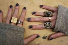 Love these rings, especially the Scrabble letter ring.