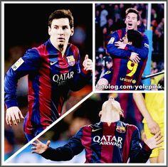 Leo Messi no jogo de ontem : Mais algumas imagens de Leo na partida de ontem contra o Vilarreal, hoje os jogadores treinaram normalmente e a próxima partida do time será no domingo pelo Campeonato Espanhol.  Bj | yolepink